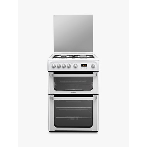Buy Hotpoint HUG61P Ultima Gas Cooker, White Online at johnlewis.com