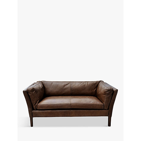 Buy Halo Groucho Small Aniline Leather Sofa John Lewis