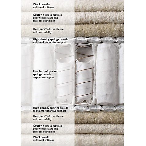 Buy John Lewis Natural Collection Fleece Wool 5000 Mattress, Super Kingsize Online at johnlewis.com