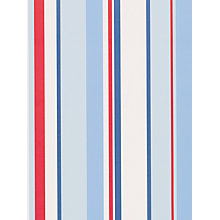 Buy little home at John Lewis Ahoy There Finlay Stripe Wallpaper, Blue/Multi Online at johnlewis.com