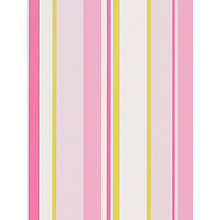 Buy little home at John Lewis, Finlay Stripe Wallpaper, Pink/Multi Online at johnlewis.com