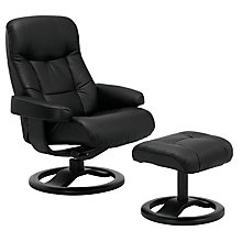Buy John Lewis Oslo Swivelling Recliner Armchair and Stool, Havana Espresso Online at johnlewis.com