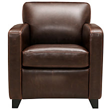 Buy John Lewis Colby Leather Armchair, Chocolate Online at johnlewis.com