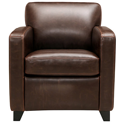Buy John Lewis Colby PU Leather Armchair Chocolate Online At