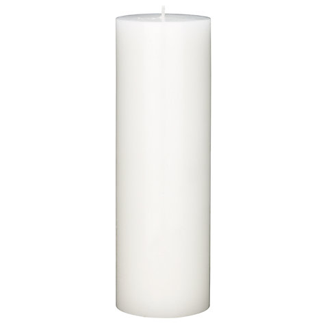 Buy Citronella Pillar Candle, Natural, H23cm Online at johnlewis.com