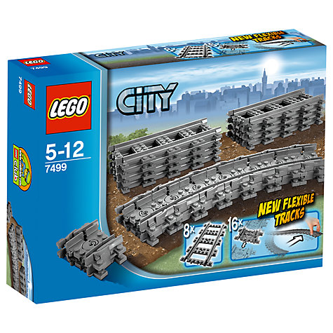 Buy LEGO City Flexible Train Tracks Online at johnlewis.com