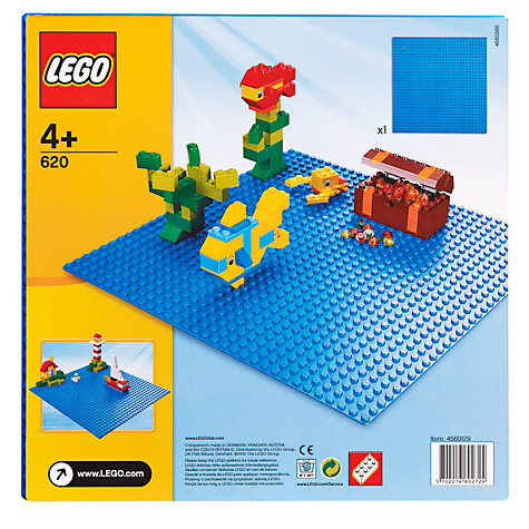 Buy LEGO Building Plate, Blue Online at johnlewis.com