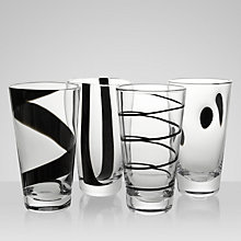 Buy LSA International Jazz Highballs, Box of 4, Black Online at johnlewis.com