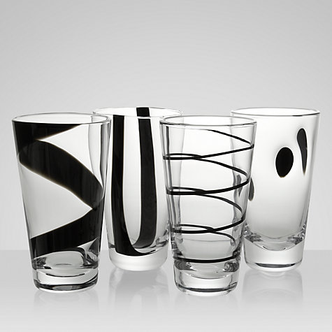 Buy LSA Jazz Highballs, Black, Box of 4, Black Online at johnlewis.com