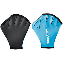 Buy Speedo Aqua Gloves, Blue Online at johnlewis.com