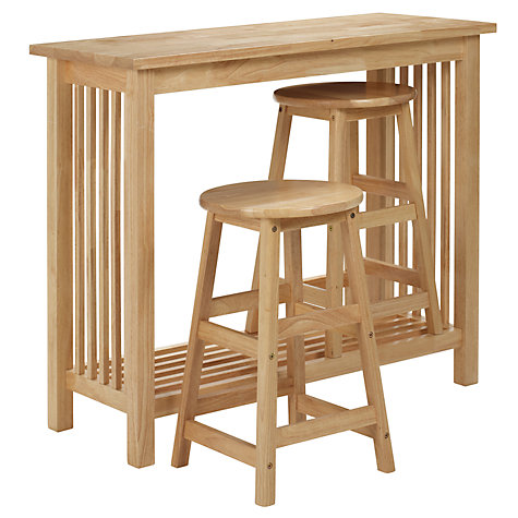 Buy John Lewis Mission Bar Table Set, Natural Online at johnlewis.com