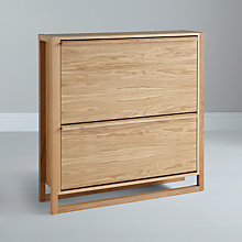 Buy John Lewis Low Shoe Storage Cabinet, Oak Online at johnlewis.com