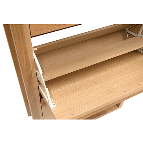 Buy John Lewis Tall Shoe Storage Cabinet, Oak Online at johnlewis.com
