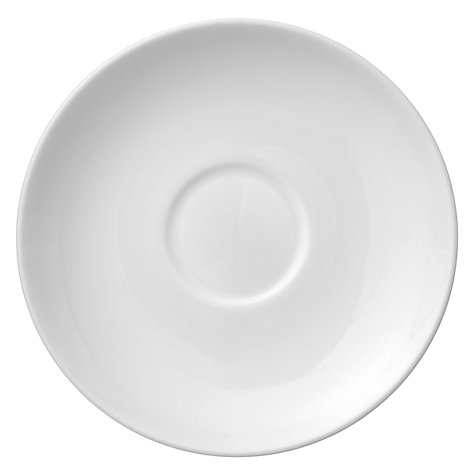 Buy Wedgwood White China Coffee Saucer,Dia.8.25cm, White Online at johnlewis.com