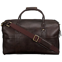 Buy Hidesign Devonshire Leather Holdall, Brown Online at johnlewis.com