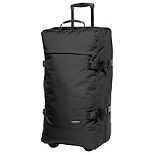 Buy Eastpak Tranverz 2-Wheel 79cm Large Suitcase, Black Online at johnlewis.com