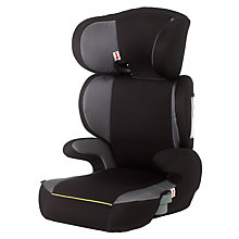 Buy John Lewis Highback Booster Seat, Black/Lime Online at johnlewis.com