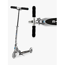 Buy Micro Scooters Micro Sprite Scooter, Silver Online at johnlewis.com