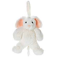 Buy TeddyKompaniet Lollan Bunny Musical Cot Toy, White Online at johnlewis.com