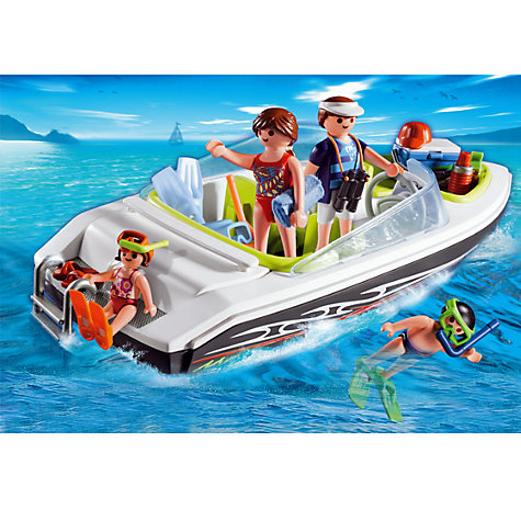 Buy Playmobil Family Speed Boat Online at johnlewis.com