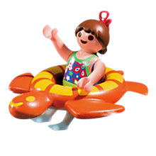 Buy Playmobil Girl and Swim Ring Online at johnlewis.com