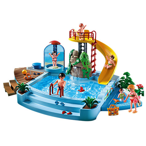 Buy playmobil summer fun pool and water slide john lewis for Piscine playmobil