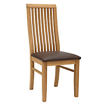 Buy John Lewis Henry Dining Chair Leather Seat, Dark Brown Online at johnlewis.com