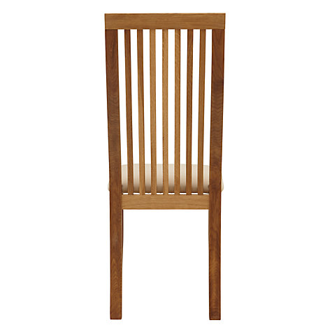 Buy John Lewis Henry Chair, Fabric Seat, Beige Online at johnlewis.com