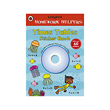 Buy Ladybird Homework Helpers: Times Tables Sticker Book with CD Online at johnlewis.com