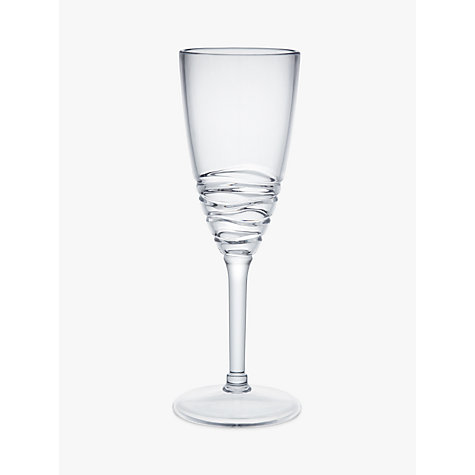 Buy John Lewis Wave Acrylic Picnic Champagne Glass Online at johnlewis.com