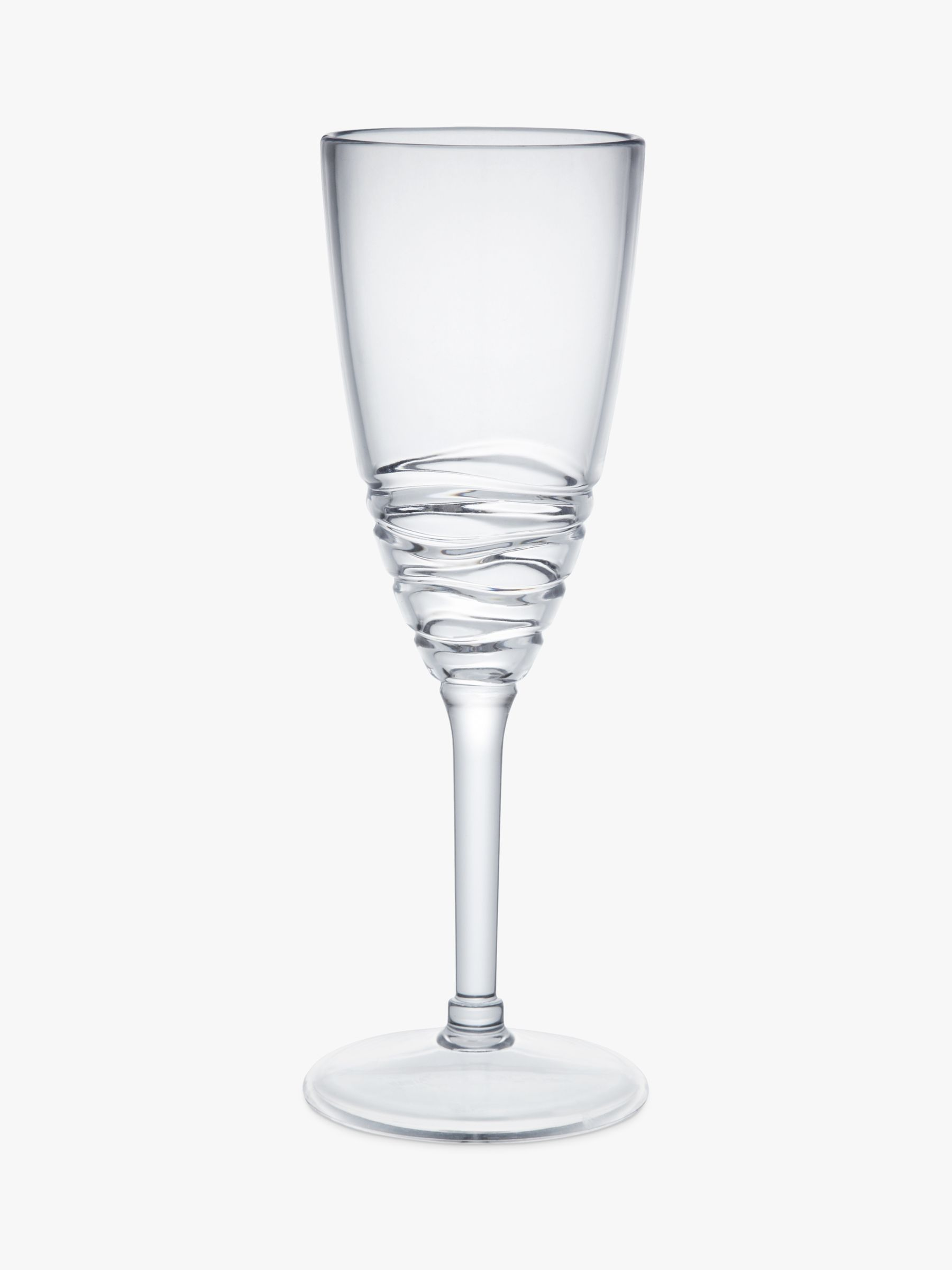 John Lewis Wave Champagne Glass