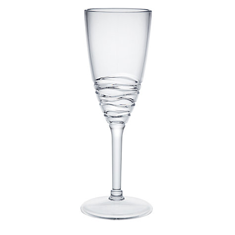 Buy John Lewis Wave Champagne Glass Online at johnlewis.com