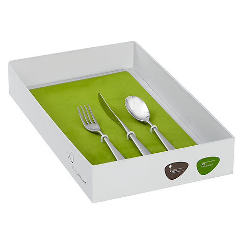 Buy Studio William Karri Child's Cutlery, 3 Piece Set, Mirror Finish Online at johnlewis.com