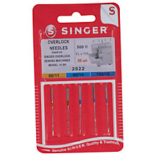 Buy Singer Overlock Sewing Machine Needles, 2022 Online at johnlewis.com
