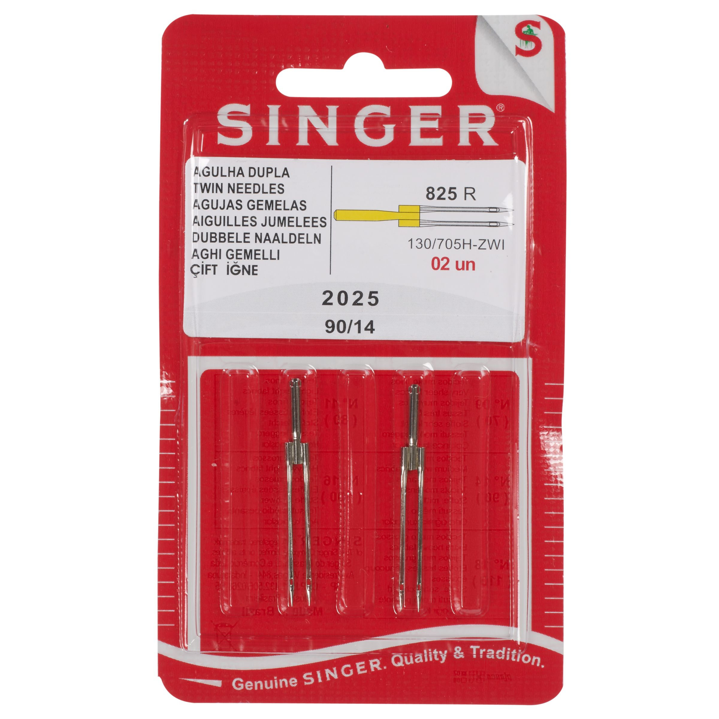 Singer Singer Sewing Machine Assorted Twin Needles, 2025