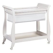 Buy Boori Sleigh Bassinette, Soft White Online at johnlewis.com