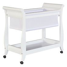 Buy Boori Sleigh Bassinette, White Online at johnlewis.com