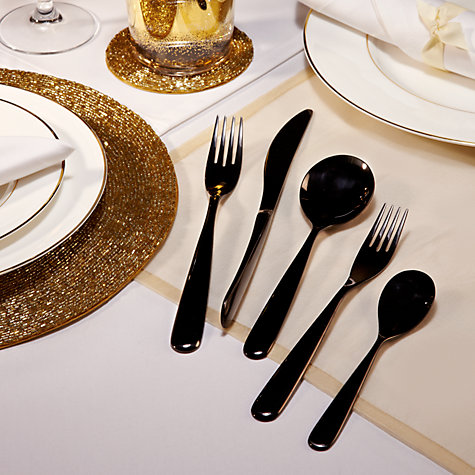 Buy Robin Levien for John Lewis Propeller Table Fork, Black Online at johnlewis.com