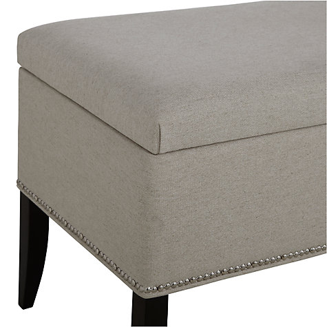 Buy John Lewis Jennifer Ottoman, Linen, Double Online at johnlewis.com
