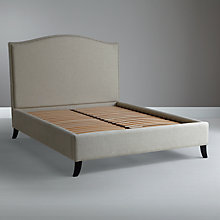 Buy John Lewis Jennifer Upholstered Bedstead, Beige, Double Online at johnlewis.com