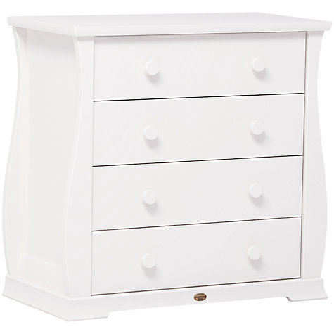 Buy Boori Sleigh 4 Drawer Chest, White Online at johnlewis.com