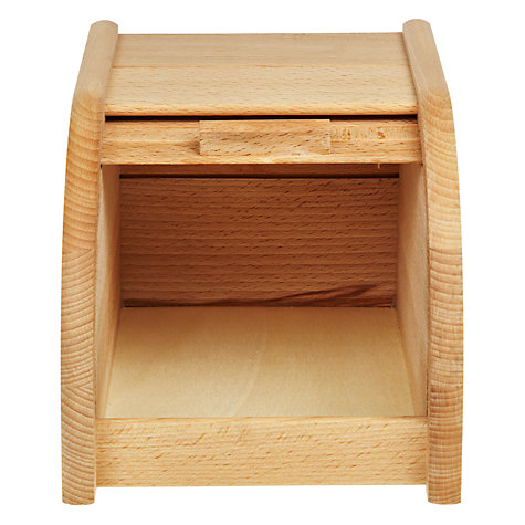 Buy John Lewis FSC Beech Bread Bin, Roll Door, Small Online at johnlewis.com