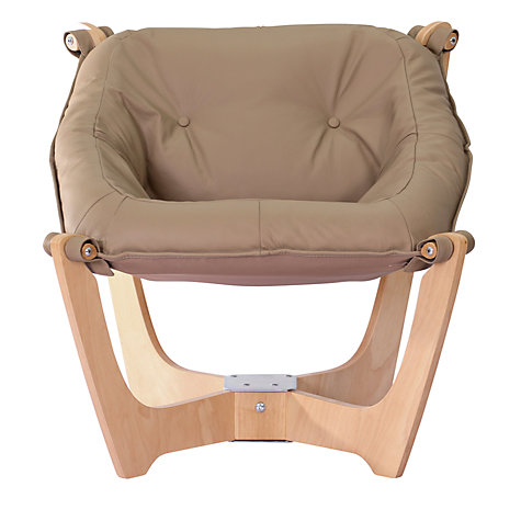 Buy John Lewis Zest Chair, Nature Base / Latte Hide Online at johnlewis.com