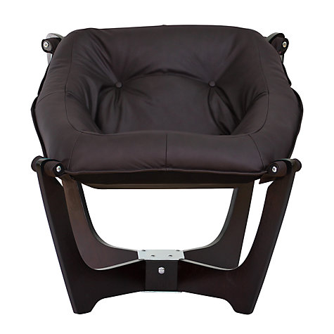 Buy John Lewis Zest Chair, Espresso Base / Havana Hide Online at johnlewis.com