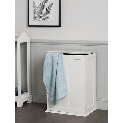 Buy John Lewis St Ives Linen Bin, White Online at johnlewis.com