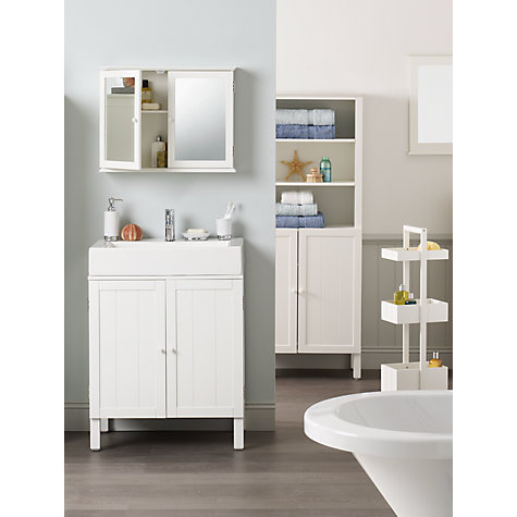 buy john lewis st ives double mirrored bathroom cabinet. Black Bedroom Furniture Sets. Home Design Ideas