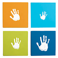 Buy Pearhead Hand Print Wall Art Set, Blue Online at johnlewis.com