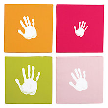 Buy Pearhead Hand Print Wall Art Set, Pink Online at johnlewis.com
