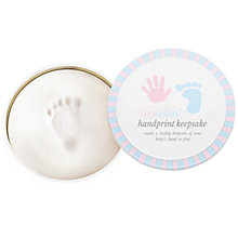 Buy Pearhead Babyprints Round Gift Tin Online at johnlewis.com