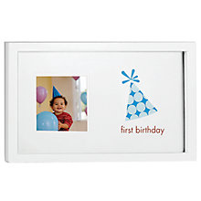 Buy Pearhead First Milestones Frame, Boy Online at johnlewis.com